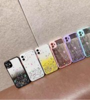 Luxury Bling Foil Glitter Hard PC TPU Cases For Iphone 13 12 Mini 11 Pro Max XR XS X 8 7 6 Iphone13 Star Gradient Transparent Confetti Sequin Flake Clear Phone Back Cover