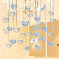 Nuevo 100 unids Bebé Bebé banquete decoración lluvia seda lentejuelas colgante sala de boda decoración globo lluvia seda colgante EWA6043