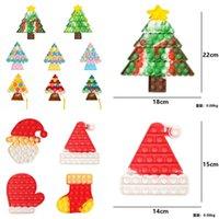 Рождественский толчок POO - его пузырь Popper доска галстуки краситель рождественских деревьев Santa Clause чулок шляпа сенсорное лицо пальца головоломки игрушки ключевое кольцо с ремешком RAYCHAIN G83JNEH