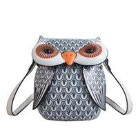 Messenger Bags Women PU Owl Shaped Large Capacity Sport Cross body Bag