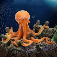 Octopus Resin Ornaments Artificial Cave Landscaping Accessories For Fish Tank Aquarium Decoration Background