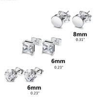 Pairs Set Stainless Steel Punk Earrings Hip Hop Rock Ear Studs Drop Dangle Pendant Unisex Women Men Jewelry Gifts C1FE Hoop & Huggie