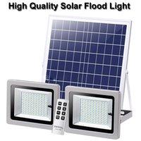 Double Heads 60W 100W 140W 180W Led Floodlight Solar Lamp Light Waterproof IP65 Outdoor Garden Street Flood Light In Stock