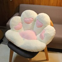 1PC 2 Sizes Soft Paw Pillow Animal Seat Cushion Stuffed Plush Sofa Indoor Floor Home Chair Decor Winter Children Girls Gift