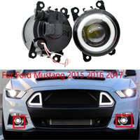2pcs LED with lens fog Lights For Ford Mustang 2015-2017 LF10-S lamp drl daylights headlights car accessories