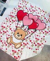 طفل رضيع بوي بنات بطانية كيس النوم والبطانيات الدب إلكتروني نمط طباعة الوليد بابيس لحاف