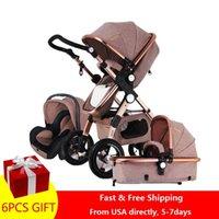 Designer Luxury Stroller Rápido e Bebê Maior Walker Land-Scape 3 1 Portátil 2 1 Pram On