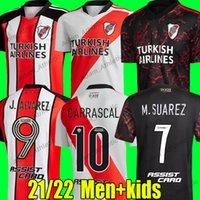 River Plate Soccer Jerseys 120th Anniversary Shirt M.Suarez J.ALVAREZ Camicie da calcio Carrascal 2021/22 Camiseta Perez Romero Montiel de la Cruz Jersey Men Kit Kit