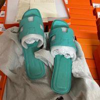 2021 Oran Sandal Designer Frauen Flache Hausschuhe High Heels Sommer Leder Folien Mode Strand Sexy Schuhe Flip Flops Top Qualität mit Box 278