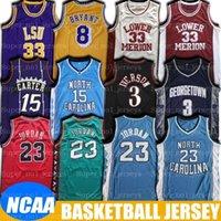 NCAA North Carolina Vince Michael Carter Tar Heel Jersey Allen Lower Iverson Merion Jerseys LSU Earvin Oneal Johnson Basketball Jesrey