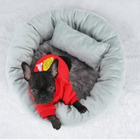 Cat Beds & Furniture Round House Soft Plush Pet Bed For Cats Dogs Thicken Puppy Kitty Sleeping Cushion With Sofa Pillow Products
