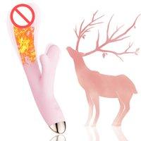 Vibratore Dildo Vibrante macchina coniglio Atmosfera giocattoli impermeabile con forti giocattoli per adulti per le donne coppie di piacere Piccolo Small Forma di Antler