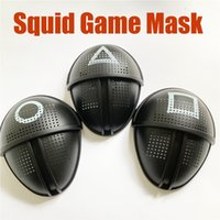 TV Squid gioco maschera maschera maschere uomo rotondo scuro triangolo triangolo partito maschera accessori delicati halloween masquerade costume puntelli x1005a