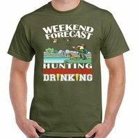 남성용 티셔츠 사냥 티셔츠 남성 슈팅 클레이 비둘기 오리 사냥 주말 예측 마시는 남자