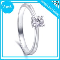Natural Real 100% Diamomd Engagement 0.3ct Carat Cut Round Diamond Ring 4-Pong Setting Halo Estilo 10k Ouro Branco