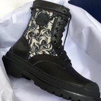 Uomini Donne Boots Oblique Boots Ankle Martin Boot Rois Nylon Derby Explorer Scarpe in pelle di vitello di alta qualità Scarpe da esterno in pelle nera di alta qualità scarpe da esterno