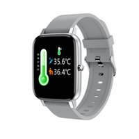 Thermometer Smart Watch Body Temperature Heart Rate Monitor Men Women Sports Fitness Tracker IP67 Bracelet 1.69'' Smartwatch Watches