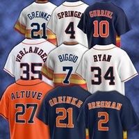 Houston 21 Zack Greinke 27 Jose Altuve Astros Beyzbol Formaları 2 Alex Bregman 1 Carlos Correa 7 Craig Biggio 55 Ryan Presly 34 Nolan Ryan 23 Michael Brantley Erkekler
