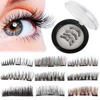 200lots Natural 3D Triple Mink Magnetic Lash False Eyelashes Make-Up Tool Handmade Glue-Free Magnet Eye Lashes Extension Make up Tools