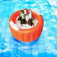 Aufblasbare Bierkühler-Eimer-Pool-Float-Sommer-Wasser-Party-Luft-Eis-Servier- / Salatbar-Floats-Röhren