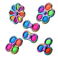 Christmas Halloween Favor Gift Alloy Colorful Fidget Toys Bubble Pop Sensory Spinner Children Adult Stress Relief Anti-Anxiety Decompression Toy