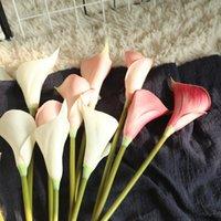 装飾的な花の花輪の花の人工的なカルタユリの束偽花ブーケテーブルホーム結婚式の装飾秋の装飾