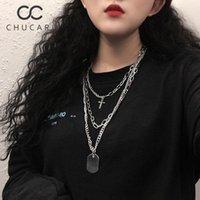 Kolye Kolye Chucari Birden Çok Katmanlar Çapraz Kadınlar Için Charm Altın Sikke Chokers Kolye Boho Punk Yaka Kadın Parti Takı
