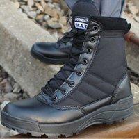 Botas militares dos militares Combat Exército Outdoor Montanhismo Sapatos High top Tactical Unisex Softable Macio em estoque
