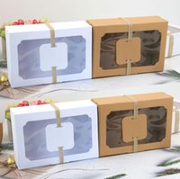كرافت ورقة الإحسان هدية مربع pvc واضح نافذة الكوكيز يعامل صناديق الزفاف حزب الديكور الحلوى حالة 100 قطعة / الوحدة SN5290