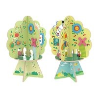 2021 Christmas Gifts Musical Tree Muliti Functional Diy Educational Baby Wooden Busy Learners Toy Activity Cube For Kids Sets
