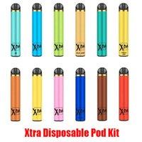 Hot Xtra Disposable Device Pod Kit E-cigarette 1500 Puffs Powerful Battery 5ml Prefilled Cartridge Pods Vape Pen Kits Vs Puff Bar Plus XXL