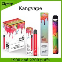 KangVape Onee Stick E Cigarros 1900 Puffs Alpha One Plus 2200 Puff Descartável POD Dispositivo 6.5ml e 8,5ml Capacidade Vape Pen 1100mAh Bateria