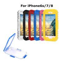 Su geçirmez Kılıflar Evrensel iphone 7 8 ağır vaka su geçirmez dalış su geçirmez kapak 6 renkler