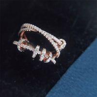 Designer jóias sparkle sparkle bling 925 esterlina anel de prata com caixa sacola meninas meninas presente idéias namoradas presentes bonitos ciclismo anéis