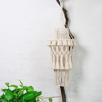 Tapestries Macrame Hanging Lamp Decoration Hand-knitted Lampshade Living Room Wedding Decorative Tassel Tapestry Boho Decor
