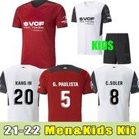 2021 2022 발렌시아 축구 유니폼 Camiseta de fútbol 21-22 Gameiro 가야 구이에있는 로드리고 Parejo Kanges C.Soller 축구 셔츠 키트 세트