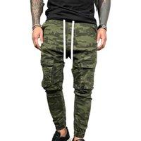Erkek Kot Erkekler Denim Kalem Pantolon Kamuflaj Pockets İpli Fasahion Man Giysileri Sıska Streç Rahat Uzun Pantolon Dipleri