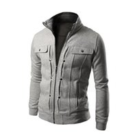 Men's Jackets 2021 Spring Autumn Style Coat Long Sleeve Hoodie Side Zip Hooded Sweatshirt Tops Slim Fit Outerwear For Men