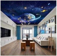 Zenith Murale 3D Durata da soffitto 3D sfondi gratuiti per pareti 3 D Bella Beak Blue Space Universo Pianeta Decor Wallpapers