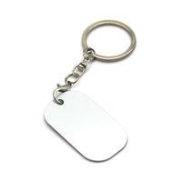 7 Style Double Sided Heat Transfer Keychains Pendant Sublimation Blank Metal Keychain Luggage Decoration Key Ring DIY Gift DDA6377