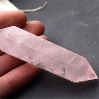 2-2,5 дюйма оптом новая 100% натуральная розовая кристалл кристалла кварцевые пункты Reiki целебного точка кристалл Crystal Crust Chakra духовное энергетические камни 466 R2