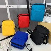 Men Messenger Bag Classic Stripes Unisex Shoulder Bags Multi-function Sports Personal Phone Anti-theft Purse Handbags