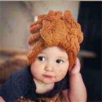 متعدد الألوان الرضع أطفال الأطفال الصوف قبعة قبعة قبعات الدافئة الشعوب أفخم الشعر التفاف القبعات رباطات تيدي القوس أدفأ أغطية الرأس الجمجمة قبعات الشعر H10R9R1