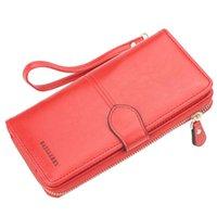 Wallets Women Wallet Female Purse Leather Long Coin Card Holder Money Clutch Wristlet Multifunction Zipper