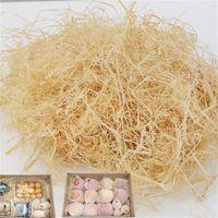 100G / 200G Natural Sin Color Raffia Jute Regalo / Candy Candy Material de embalaje Caja FILLER Suministros Papel de arrugas trituradas Y0228 644 R2