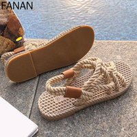 Sandals Woman Shoes Braided Rope Creativity Fashion Women Summer Style And Simple With Traditional Casual Fit