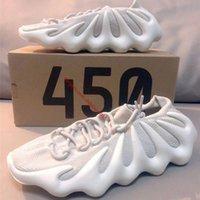 En Kaliteli 450 Bulut Beyaz Koşu Ayakkabıları 2021 Örme Yumuşak Volkanik Elastik Bant Erkek Kadın Sneakers Açık Büyük Çocuk Çorap Eğitmenler Boyutu 36-45