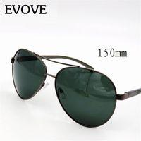 EVARVE OVERIZED POLARIZED SUNÓGICOS MASCULINA 150mm grandes óculos de sol para homens Grande rosto dirigindo óculos de proteção aviação