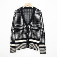 819 2021 Autumn Women Sweater Brand Same Style Sweaters Regular Long Sleeve Crew Neck Long Cardigan BlackWomen Clothes niu