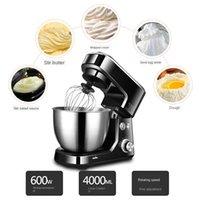 4L Mutfak Gıda Standı Mikser Krem Yumurta Çırpma Blender Hamur Mikser Aşçı Makinesi Yumurta Waffle Maker DC Motor Paslanmaz Çelik Kase Sessiz Planet Mikser 6-Hız